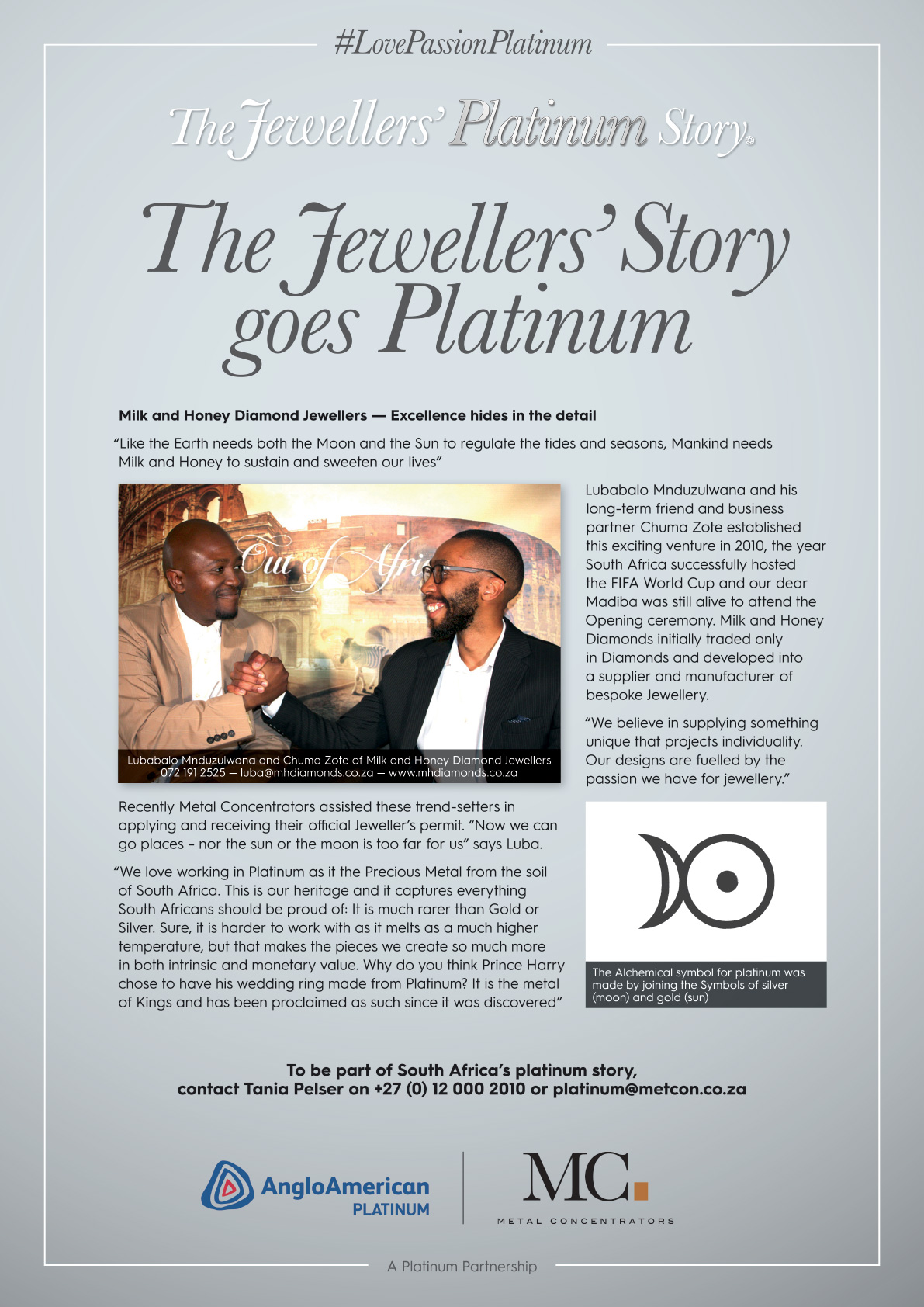 The Jewellers' Story goes Platinum